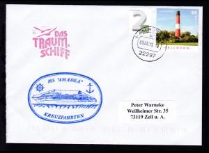 OSt. Hamburg 09.05.15 + Cachet MS Amadea auf Brief