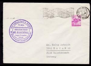 OSt. Genua 1.XII.1964 + Cachet Jubiläumsfahrt MS Blumenthal auf Brief