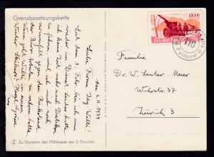 1939 K2 SCHW. MOT. KANN. BTTR. 110 Feldpost auf Grenzbesetungskarte