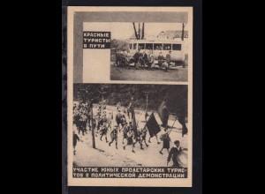 """""""Rote Touristen unterwegs"""", sowjetische Propaganda-Karte"""