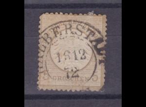 Adler mit kleinem Schild 5 Gr. mit K2 HALBERSTADT 16.12.72, Zahnfehler
