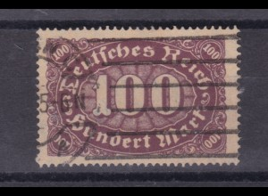 Ziffern im Queroval 100M, Plattenfehler II, gepr. Peschl