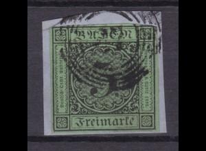 Ziffer 3 Kr. auf kleinem Briefstück