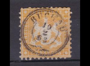Wappen 3 Kr. mit K3 BUCHAU 10.2.63