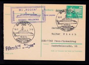 SASSNITZ 1 2355 70 JAHRE EISENBAHNFÄHR-VERBINDUNG SASSNITZ-TRELLEBORG 16.8.79 +