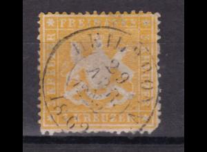 Wappen 3 Kr. mit K2 HEILBRONN 29 APR. 1862