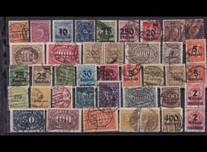 1 Steckkarte mit gestempelten Infla- Marken