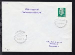 """WARNEMÜNDE FÄHRE WARNEMÜNDE-GEDSER 30.9.63 + L2 Fährschiff """"Warnemünde"""""""