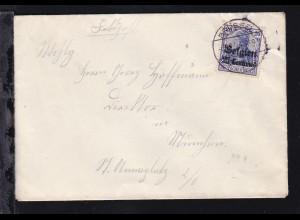 Germania 25 Centimes auf Brief ab Brüssel 5.2.15 nach München