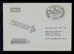 IVA 79 Vorführpost Brief mit Inhalt