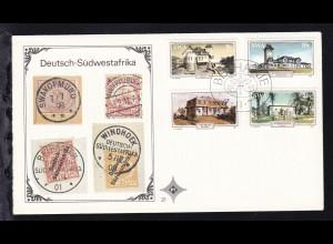 Historische Gebäude auf Ersttagsbrief ohne Anschrift
