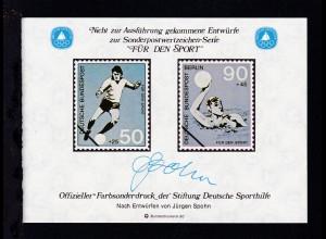 Offizieller Farbsonderdruck der Stiftung Deutsche Sporthilfe,