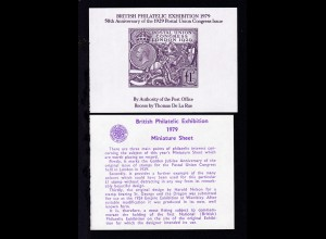 British Philatelic Exhibition 1979 Vignettenblock