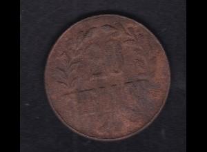 Deutsch-Ostafrika 20 Heller Kupfer Tabora 1916, SS