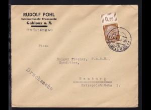 GABLONZ A.D. NEISSE 1 4b 3.XII.38 auf Firmendrucksache (Rudolf Pohl