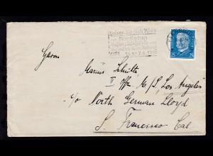 Reichspräsidenten 25 Pfg. auf Brief ab Flensburg 11.6.31 an den II. Offizier