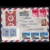 """Brief ab Tokio/Japan 6.II.60 an den Zahlmeister MS """"Frankfurt"""" nach Hamburg"""