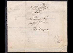 Mahlwinkel 1857 R2 MAHLWINKEL 31.7. auf Post-Insinuations-Document