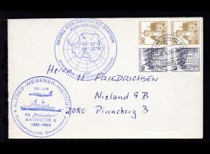 OSt. Bremerhaven 6.4.84 + Cachet FS Polarstern auf Brief