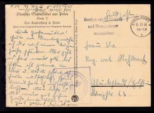 Maschinenstempel Stralsund 8.10.40 + K1 5. Kompanie 7. Schiffsstammabteilung