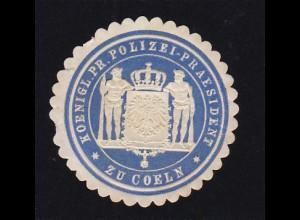 Köln Siegeloblate KOENIGL. PR. POLIZEI-PRÄSIDENZ ZU COELN