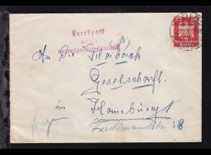 L3 Verzögert wegen ungenügender Anschrift auf Brief ab Köln-Mülheim 22.11.26