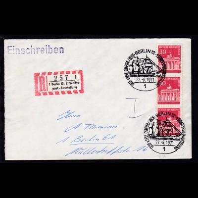 Berlin Sonderstempel BERLIN 12 1 GRAF v. SPEE CHAPTER/USCS