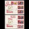 Spanienkämpfer auf 2 R-Briefen ab Oelsnitz 22.7.66 nach Solingen