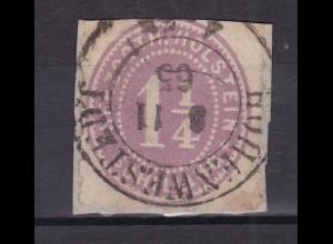 1¼ Sch. auf Bf.-Stück mit K2 HOHENWESTEDT 8.11.65, Marke oben etwas