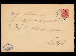 Dienstumschlag 10 Pfg. der K.W. Gemeinde Breuningsweiler ab Winnenden 24 OKT 98