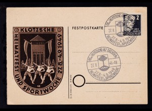 Klotzsche Sonderstempel (10a)KLOTZSCHE (BZ. DRESDEN) HEIMATFEST u. SPORTWOCHE