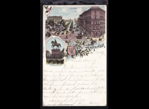 Gruss aus Hannover, Georgstrasse und Ernst August Denkmal