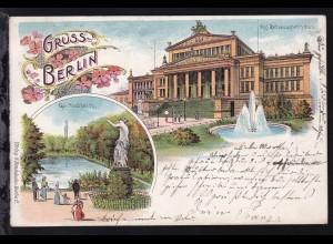 Berlin, Kgl. Schauspielhaus und Goldfischteich