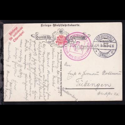 Strausberg OSt. STRAUSBERG 1 (STADT) * a 24.7.15 + K1 VEREINSLAZARETT II