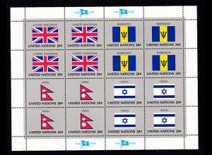 Flaggen der UNO-Mitgliedsstaaten IV, Kleinbogensatz **