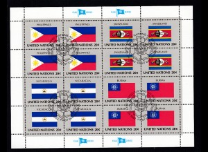 Flaggen der UNO-Mitgliedsstaaten III, Kleinbogensatz