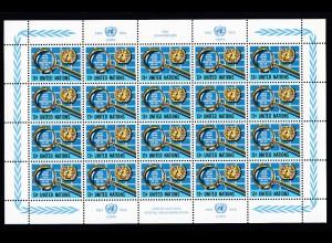 25 Jahre UNO-Postverwaltung Bogensatz **