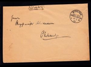 Feldpostbrief mit K1 WINDHUK DEUTSCH-SÜDWESTAFRIKA *a 8.3.04 nach Okahandja