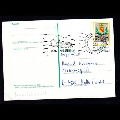 Handroll-Stempel RODBY-FEHMERN PAQUEBOT 27.5.79 DANSK SOPOST auf Bund-GSK