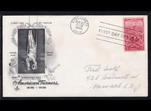 100 Jahre Amerikanische Turnerverbände auf FDC