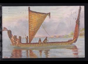 Boot, Neuseeland Jetztzeit, Marinegalerie Karte 191
