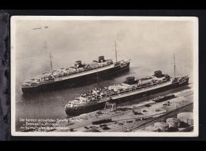 """Die beiden schnellsten Schiffe der Welt """"Bremen"""" und """"Europa"""" im Heimathafen"""