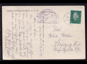 OSt. Helgoland 28.6.29 + Auf hoher See an Bord des Turb.-Dampfers Kaiser