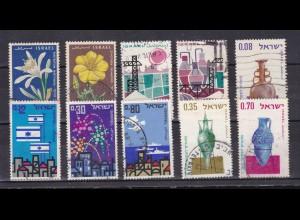 Israel 10 verschiedene Marken (4 Sätze)