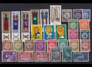 Israel 1 Steckkarte mit Marken gemischt