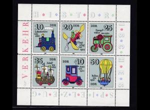 Historisches Spielzeug (I) Verkehrsmittel Kleinbogen **