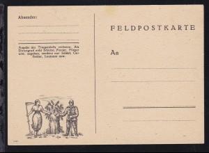illustrierte Feldpostkarte (Soldat und Schnitterin) ungebraucht