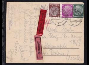 handgemalte Geburtstagskarte (Schmetterlinge) ab Berlin-Charlottenburg 2.2.41