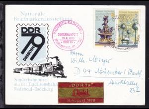 Dresden Nationale Briefmarkenausstellung 1979 Sonderpostkarte mit Sonderstempel,