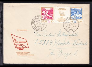 8. FDGB-Kongress auf Brief (FDC-Umschlag) ab Bitterfeld 26.5.72